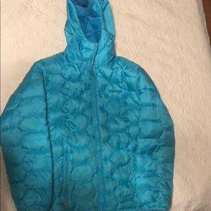 Girls Marmot puffer coat size Large